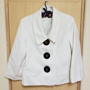 Coffeeshop off white 3/4 sleeve jacket.